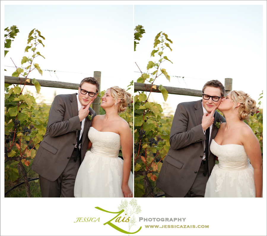 Buddy Holly Glasses. Winery Wedding.