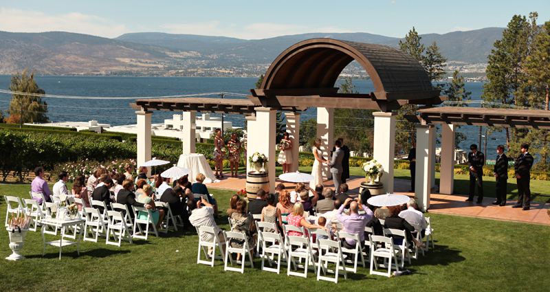 Kelowna, BC ceremony venue - Cedar Creek Winery.