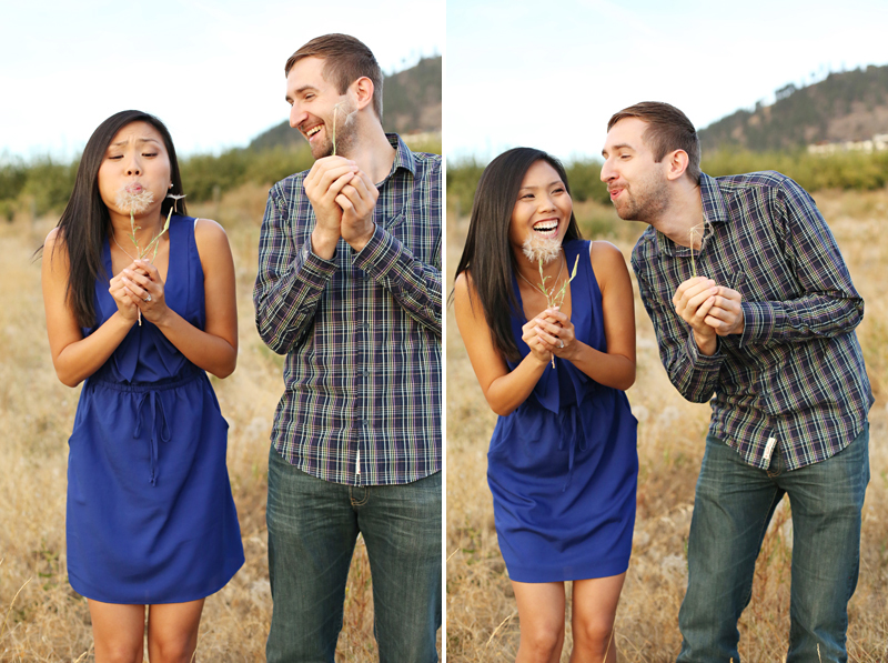 Kelowna orchard engagement wedding photos.