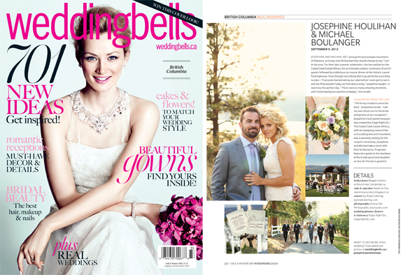 Weddingbells feature Jessica Zais Photography Kelowna